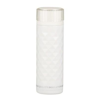 パール金属 カフェマグ 軽量ダイヤカットマグボトル350(ホワイト)