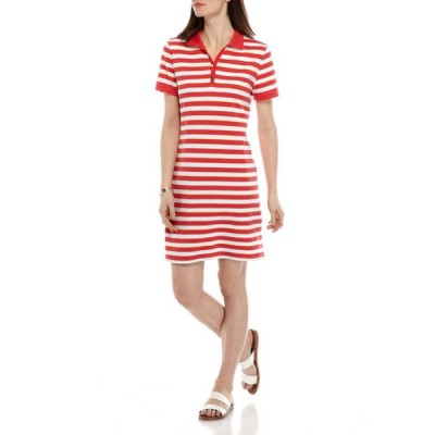 キム ロジャース レディース ワンピース トップス Women's Short Sleeve Polo Dress