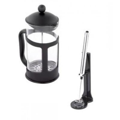【お取り寄せ】コーヒープレス 11 oz. French Press Coffee and Tea Maker and Milk Frother Set