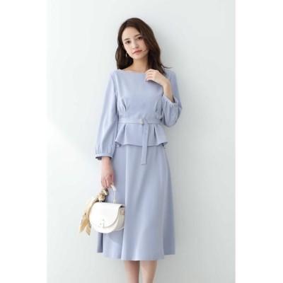 PROPORTION BODY DRESSING/プロポーションボディドレッシング  ◆ベルト付ブラウス×スカートセットアップ ブルー 2