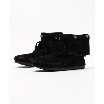 ブーツ MINNETONKA(ミネトンカ) / フリンジ バックジップブーツ HI TOP BACK ZIP BOOT