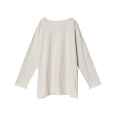 リエディ Re:EDIT USAコットンオーバーサイズカットソーTシャツ (ベージュ)