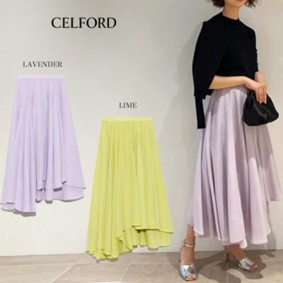 SALE40%OFF CELFORD セルフォード  通販 シアーボリュームスカート cwfs201062/2020春夏.デイリー オケージョン