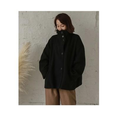 【la-gemme】スタンドカラー ショートコート (コート)(レディース)Coat