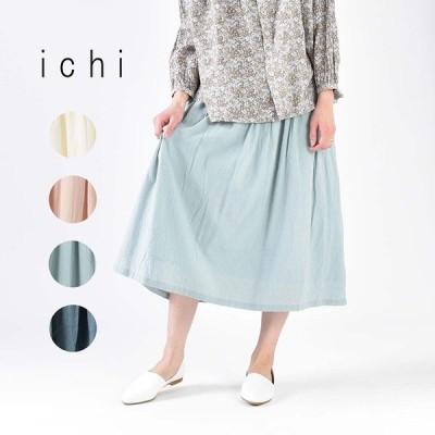 ichi フレアースカート 191022 ナチュラルファッション スカート 40代 50代 ナチュラル服 大人コーデ 大人かわいい 花柄