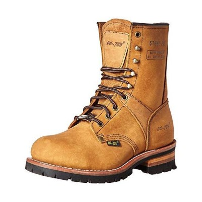 AdTec Men's 9 Inch Steel Toe Logger Boot, Brown, 10.5 M US【並行輸入品】