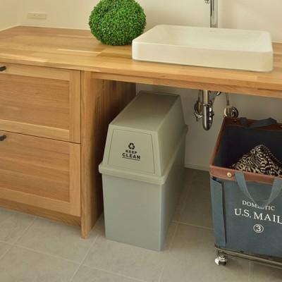 ゴミ箱 30L 分別 ふた付き スリム ダストボックス 日本製 スタッキング キッチン シンプル おしゃれ 白 ブラウン グリーン ホワイト 屋外 スタッキングペール
