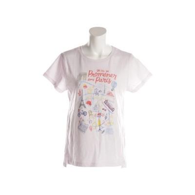 ウィッテム(HUITIEME) 【多少の傷汚れありの為大奉仕】Tシャツ レディース 半袖 プリント PARIS HU18SCD864504LVD (レディース)