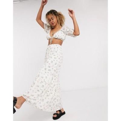 エモリー パーカー レディース スカート ボトムス Emory Park full maxi skirt in vintage floral two-piece