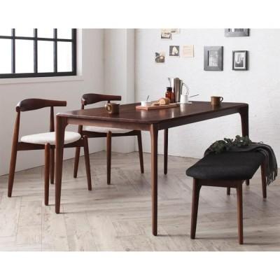 北欧デザイナーズダイニングセット【Spremate】シュプリメイト/4点Aセット(テーブル+チェアA×2+ベンチ)