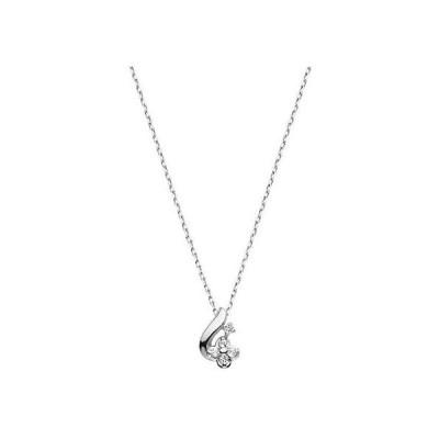 [VAヴァンドーム青山] VA VENDOME AOYAMA K10WG ホワイトトパーズ ダイヤモンド フラワー ネックレス (シルバー)