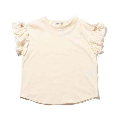 シューグー キッズ SHOO-LA-RUE(Kids) 【90-140cm】ひんやり袖フリルTシャツ (アイボリー)