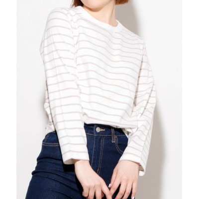 tシャツ Tシャツ WEGO/コットンフィットロングスリーブTシャツ