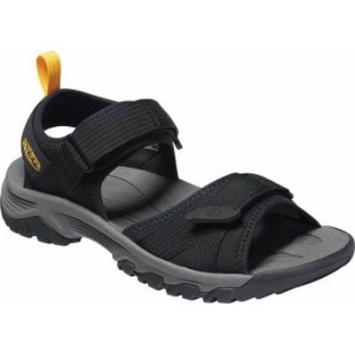 キーン メンズ サンダル シューズ Men's Keen Targhee III H2 Waterproof Hiking Sandal Black/Yellow