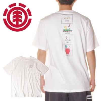 SALE セール Tシャツ メンズ 半袖 スヌーピー コラボ 2021年春夏 PEANUTS ELEMENTPAGE SS TEE BB021221 BB021-221