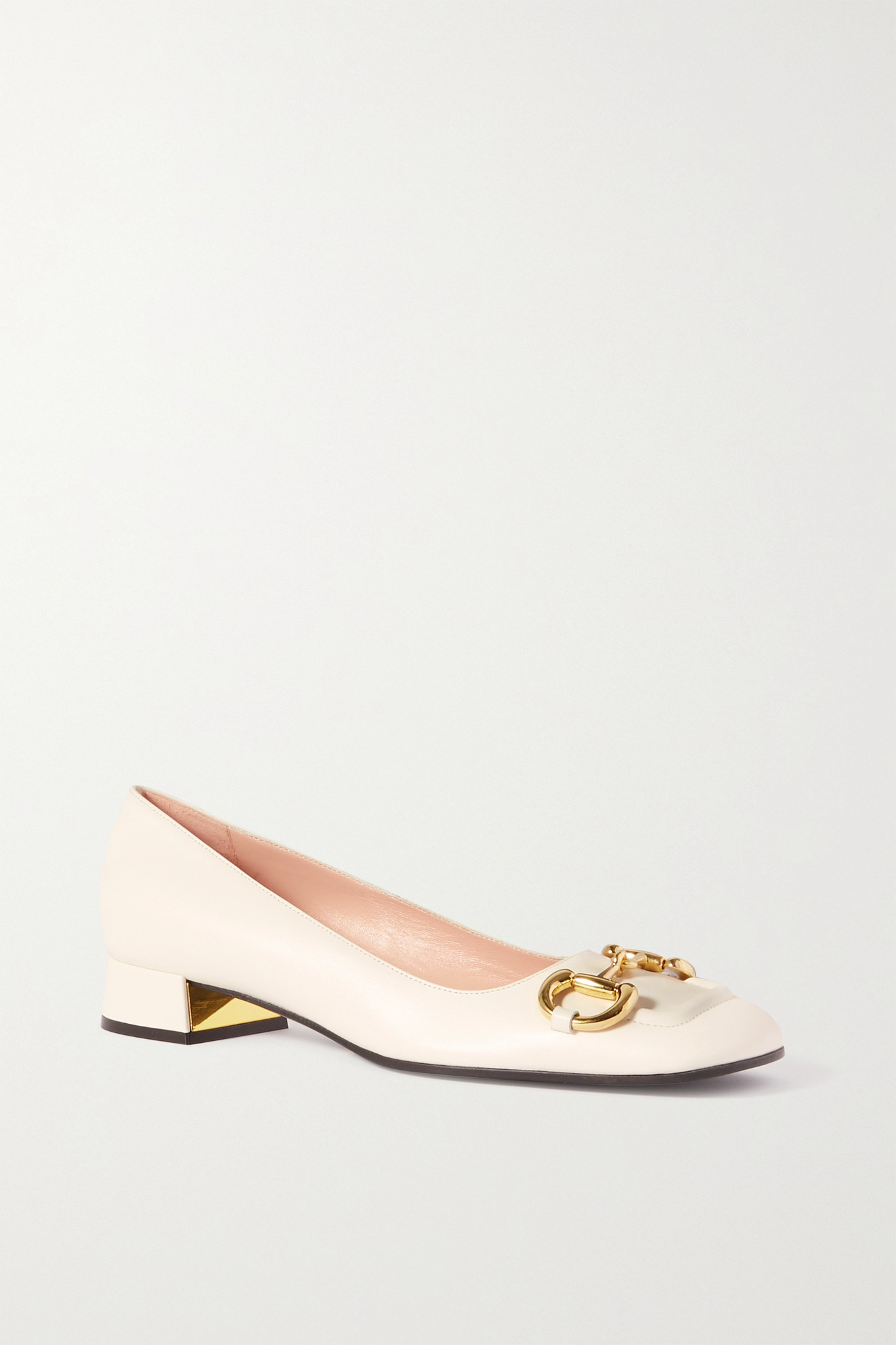 Gucci - Baby Horsebit-detailed Leather Pumps - White - IT37.5