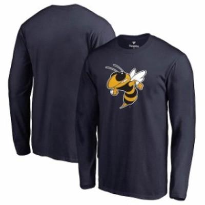 Fanatics Branded ファナティクス ブランド スポーツ用品  Georgia Tech Yellow Jackets Navy Primary Logo Long Sleeve T-Shirt