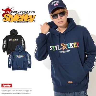 STYLEKEY スタイルキー スウェットパーカー カラフルネーム アームプリント セール