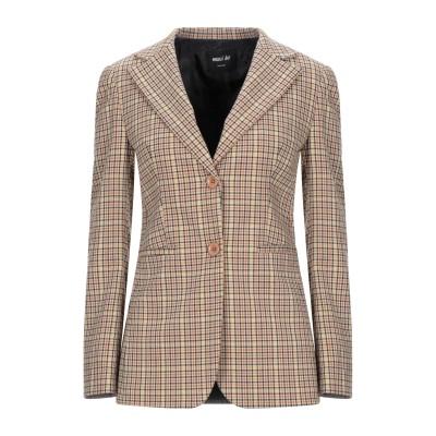 MAXI HO テーラードジャケット オークル 42 ポリエステル 65% / レーヨン 32% / ポリウレタン 3% テーラードジャケット