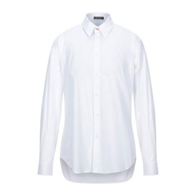 VERSACE シャツ ホワイト 41 コットン 97% / ポリウレタン 3% シャツ