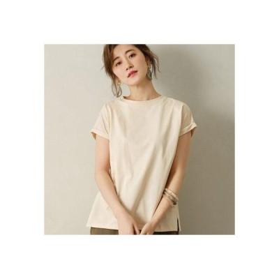 ジーラ GeeRA 綿100%フレンチスリーブTシャツ (グレージュ)