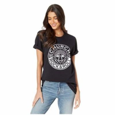 チャーチオブロック&ロール The Church of Rock & Roll レディース Tシャツ トップス Original Logo Premium Tee Black