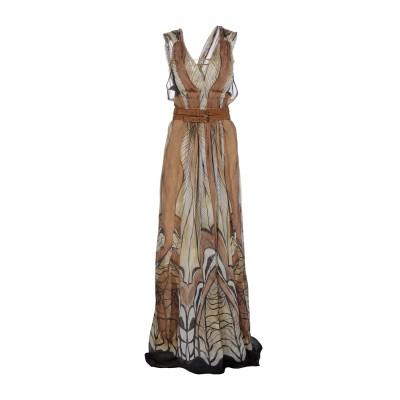 アルベルタ フェレッティ ALBERTA FERRETTI ロングワンピース&ドレス ベージュ 38 100% シルク ナイロン ロングワンピース&