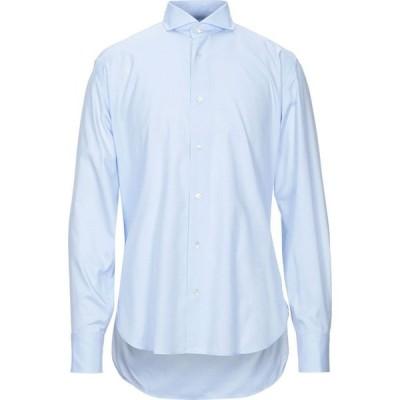 ダノリス DANOLIS メンズ シャツ トップス Solid Color Shirt Sky blue