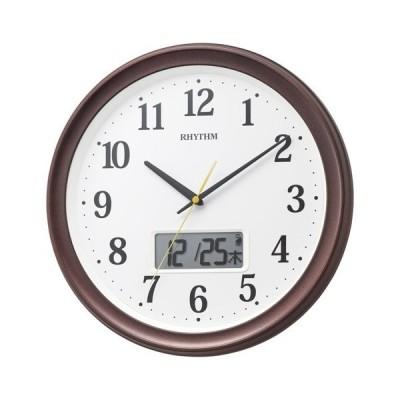 内祝い 内祝 お返し 時計 掛け時計 電波 RHYTHM フィットウェーブリブ 電波掛時計 茶色メタリック 8FYA02SR06 (6)