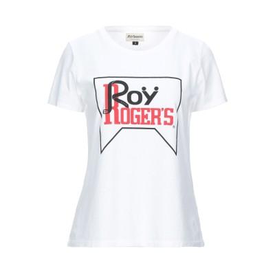 ロイ ロジャース ROŸ ROGER'S T シャツ ホワイト M コットン 100% T シャツ