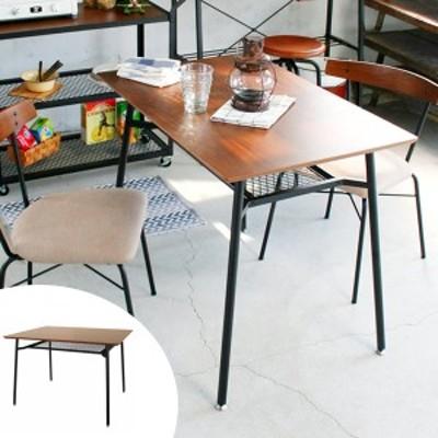 ダイニングテーブル 食卓 スチールフレーム anthem 幅90cm Sサイズ ( 送料無料 テーブル 机 収納ラック付き 食卓テーブル 2人用 ヴ