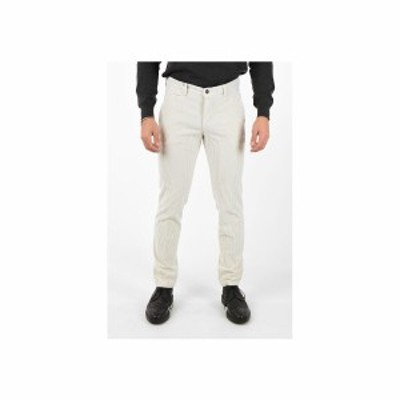 COCCINELLE/コチネレ White メンズ Corduroy Straight Fit Pants dk