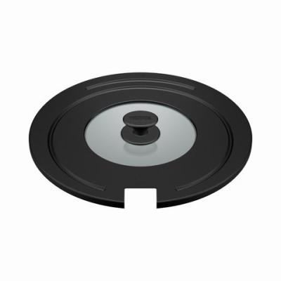 【サーモス】取っ手のとれるフライパン専用フタ 26cm対応 28cm対応 KLE-001-BK  鍋蓋【同梱不可】[▲][KM]