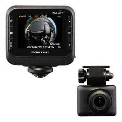 コムテック ドライブレコーダー [一体型 /前後カメラ対応] ZDR037
