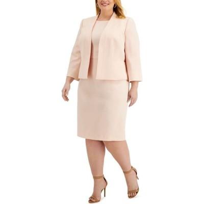 ル スーツ Le Suit レディース スーツ・ジャケット 大きいサイズ タイト アウター Plus Size Jacket & Sheath Dress Suit Light Blossom