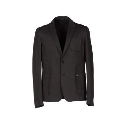 YOOX - CALVIN KLEIN JEANS テーラードジャケット スチールグレー L レーヨン 65% / ナイロン 30% / ポリウレタ