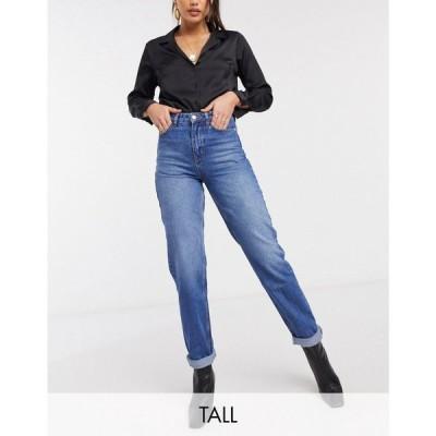 ニュールック New Look Tall レディース ジーンズ・デニム ボトムス・パンツ Waist Enhancing Mom Jean In Mid Blue ブルー