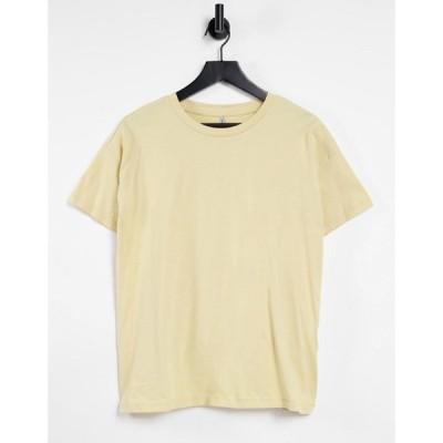 オンリー Only レディース Tシャツ トップス t-shirt co-ord in yellow イエロー