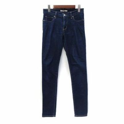 【中古】リーバイス Levi's デニム パンツ 27 S インディゴ 無地 シンプル ジーンズ スキニー レディース