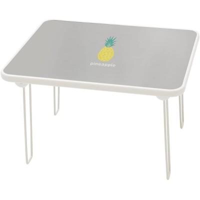 ルームアンドホーム テーブル 折りたたみ 小 パイナップル グレー 48×40×31cm