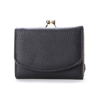 イグジスタンス EXISTENCE カードケース付きがま口ミニ財布 (ブラック)