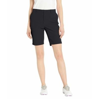アンダーアーマー ハーフ&ショーツ ボトムス レディース Links Shorts Black/Mod Gray/Black