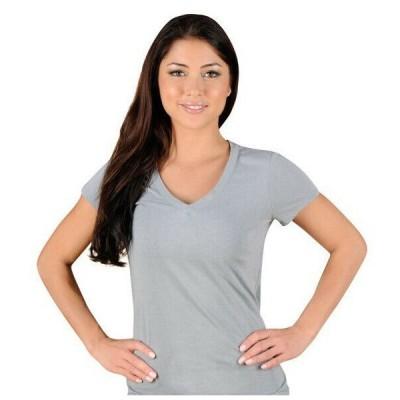 トップス ジェイコ レディース  _no_color_ Jaco Women's Authentic Performance V Neck T-Shirt - Large - Silverlake