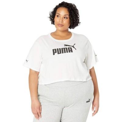 プーマ レディース シャツ トップス Plus Size Essential Cropped Logo Tee