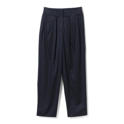 (BEAMS OUTLET/ビームス アウトレット)【VERY7月号掲載】Demi-Luxe BEAMS / コットンサテン 2タックパンツ/レディース NAVY
