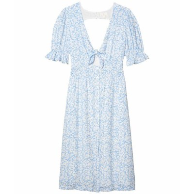 ロストアンドウォーター ワンピース トップス レディース Wander My Way Midi Dress Sky Blue/White