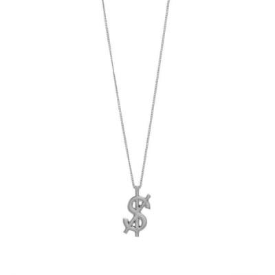 スビ Ksubi メンズ ネックレス ジュエリー・アクセサリー Cross Dollar Necklace Silver