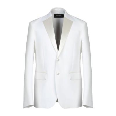 ディースクエアード DSQUARED2 テーラードジャケット ホワイト 52 コットン 66% / シルク 34% テーラードジャケット