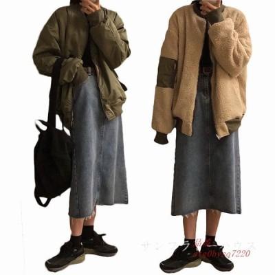 レディース おしゃれ 体型カバー 長袖 両面用 レディース 防風 アウターコート 厚手 裏起毛 秋冬 防寒 韓国風 チェスターコート ファッション
