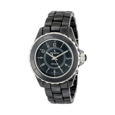 Peugeot Swiss Ladies Black Genuine Ceramic Sport Bezel Watch PS4895BK 並行輸入品
